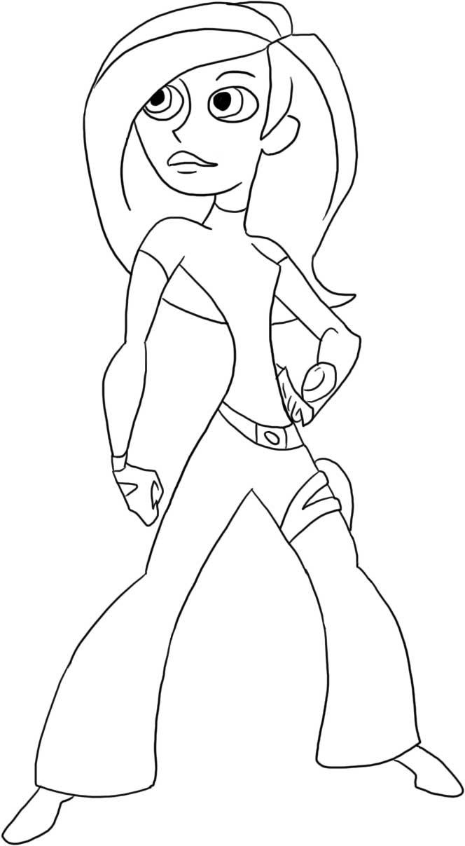 Kim Possible Coloring Picture 1