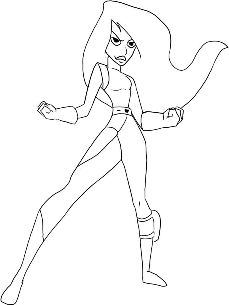Kim Possible Coloring Picture 6
