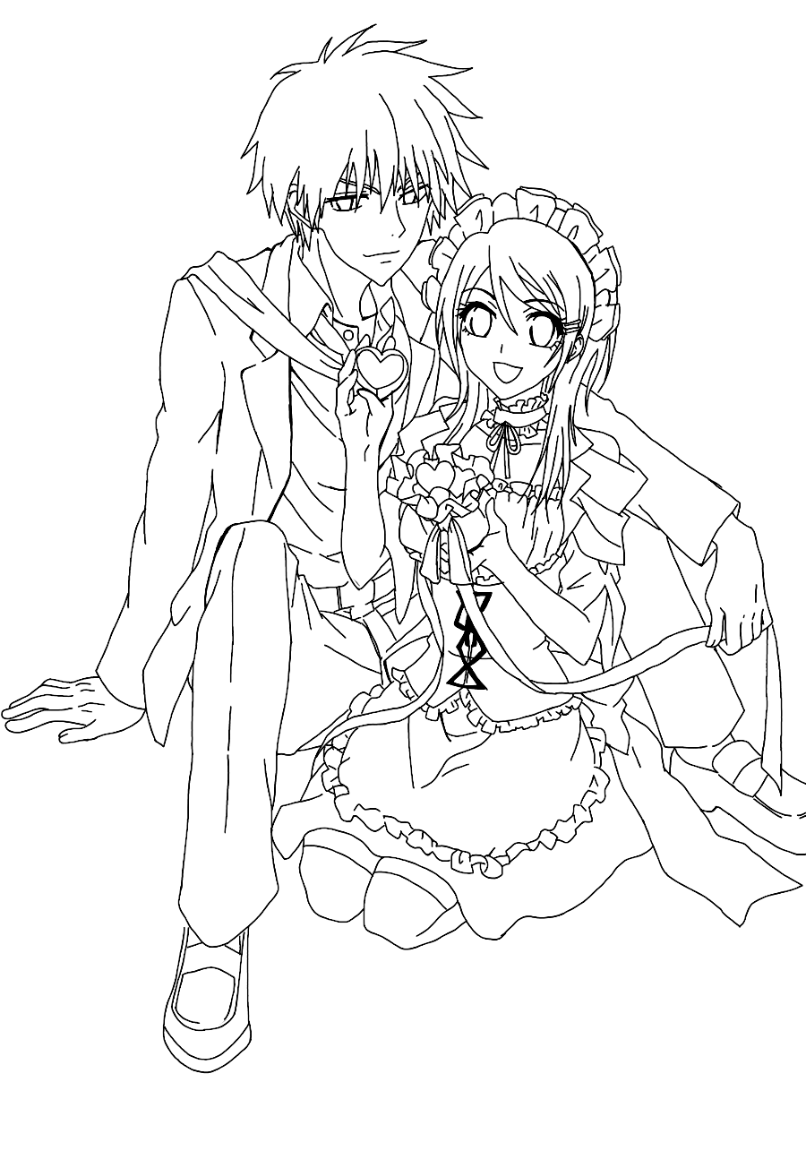 Maid Sama Coloring Picture 7