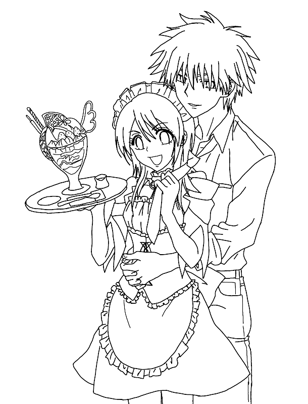 Maid Sama Coloring Picture 8
