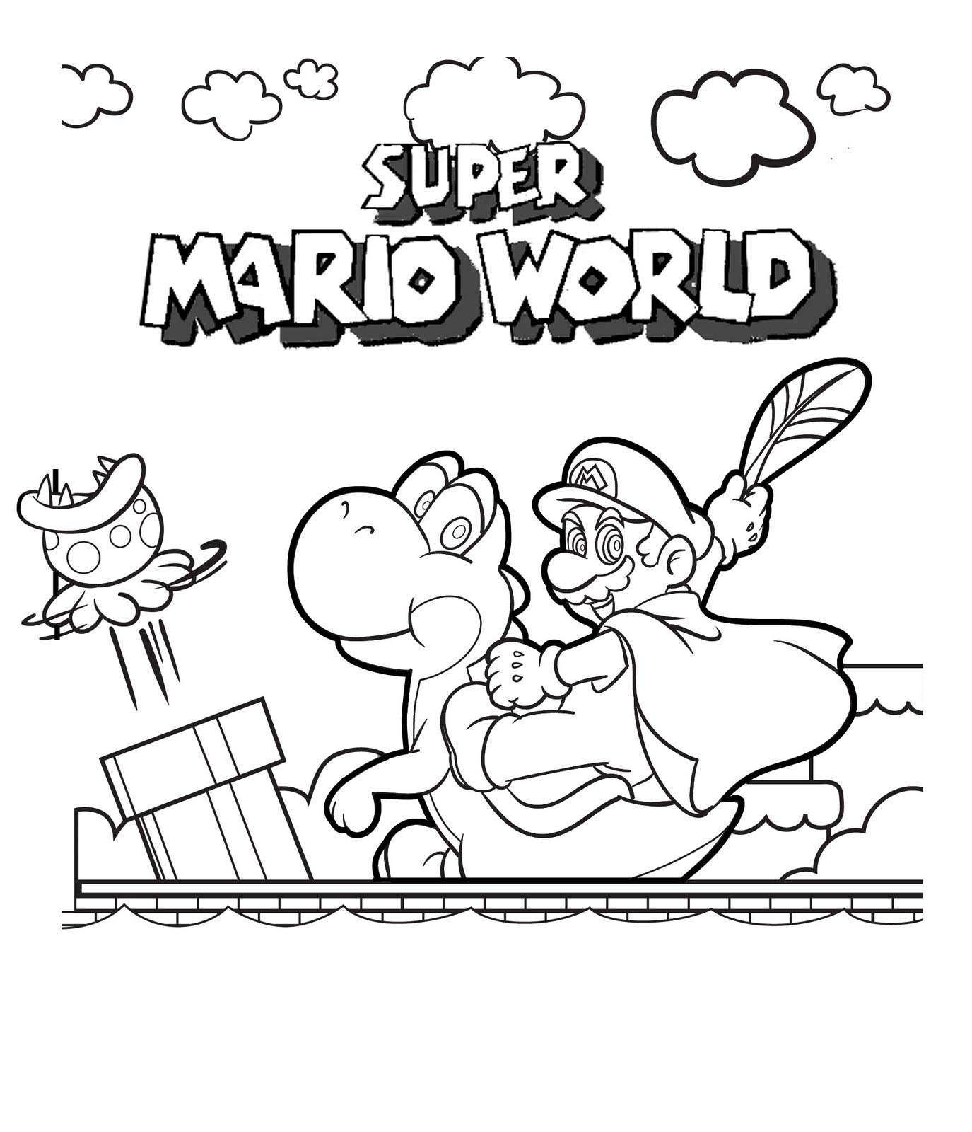 Mario Coloring Picture 1
