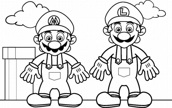 Mario Coloring Picture 10