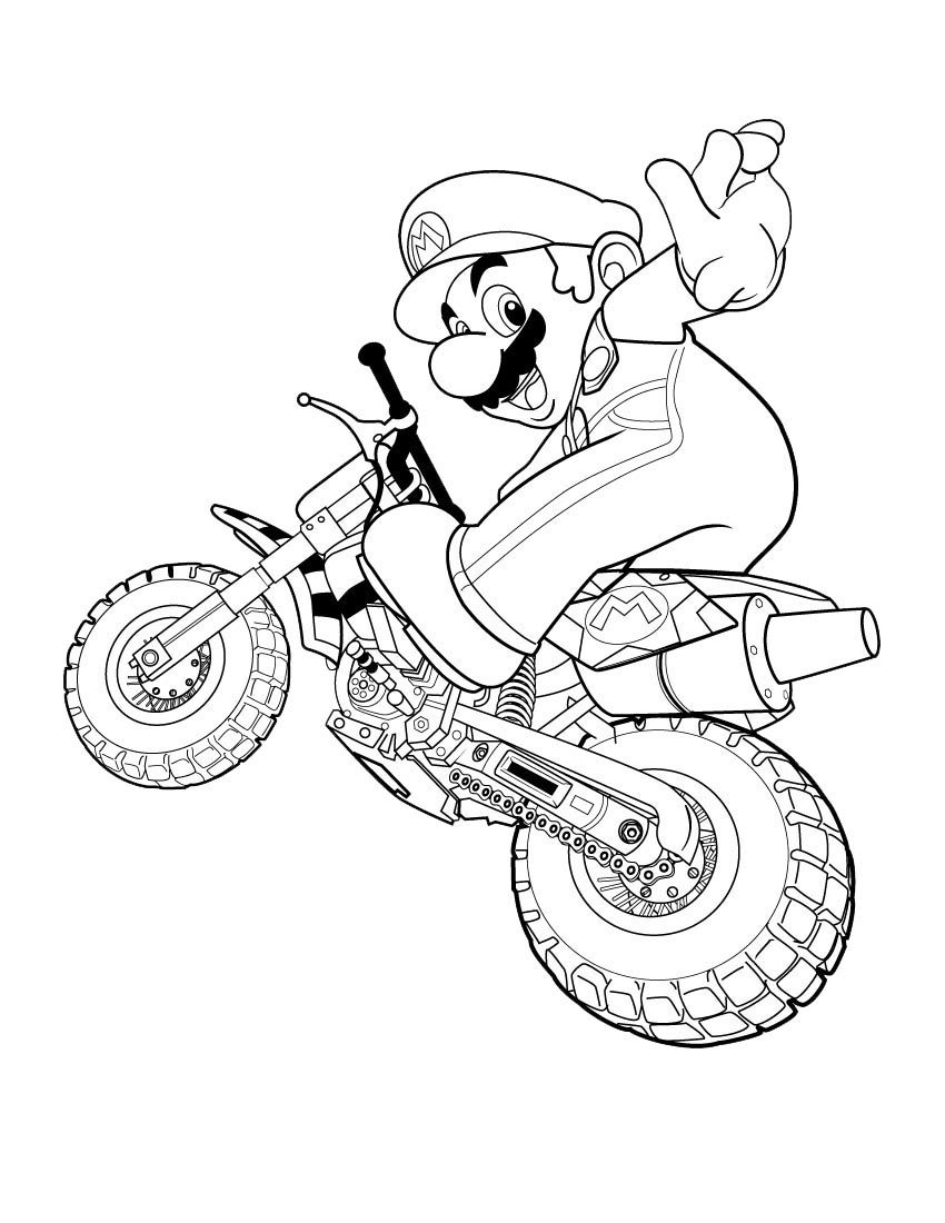 Mario Coloring Picture 12