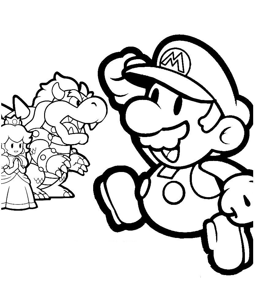 Mario Coloring Picture 2