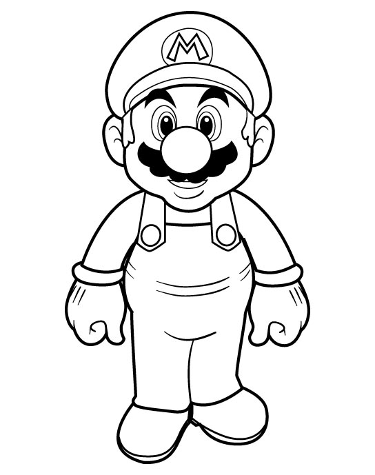Mario Coloring Picture 3