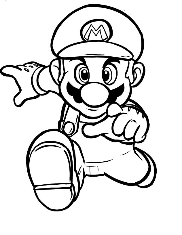Mario Coloring Picture 4