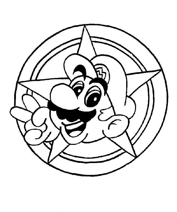 Mario Coloring Picture 5