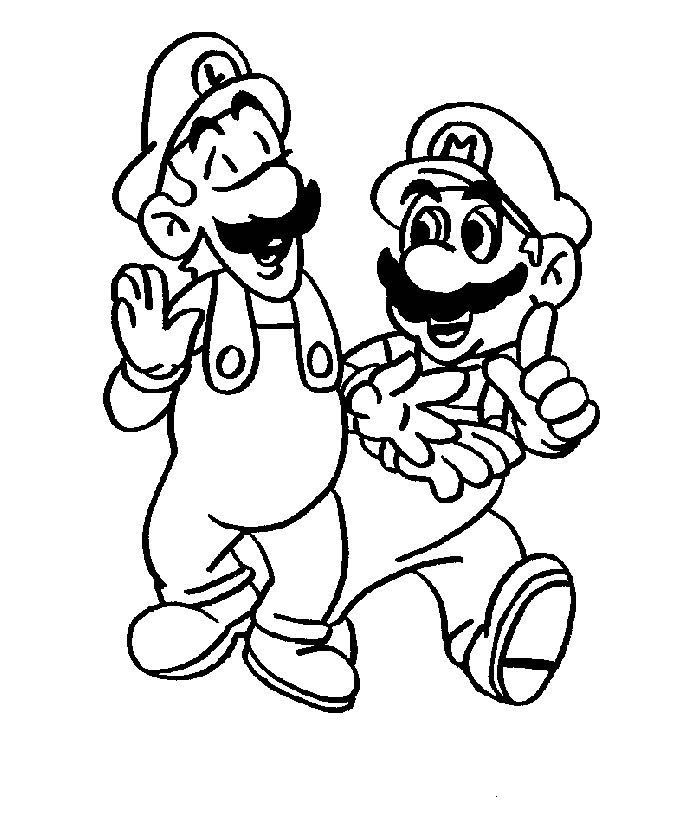 Mario Coloring Picture 7