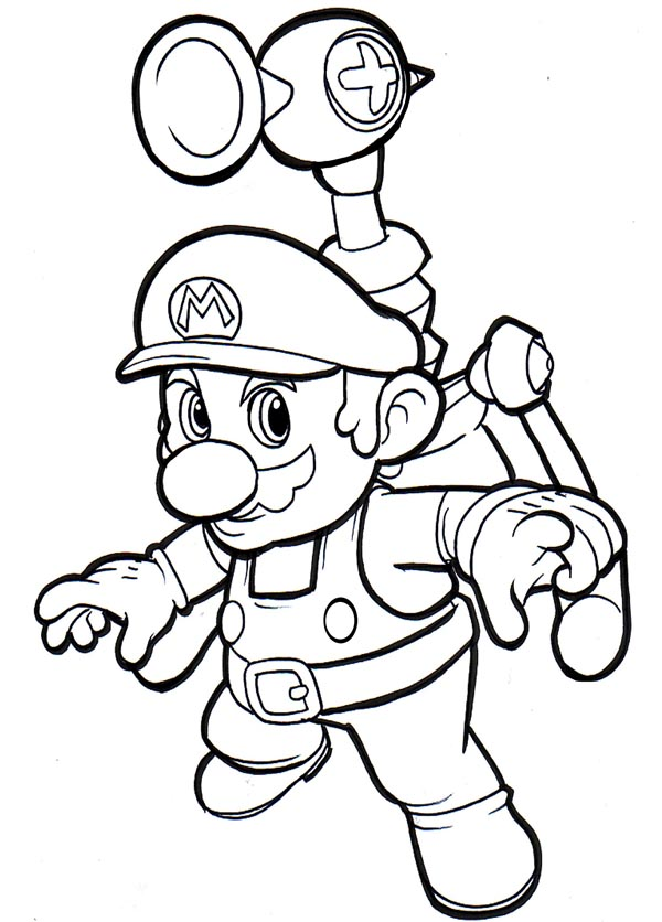 Mario Coloring Picture 8