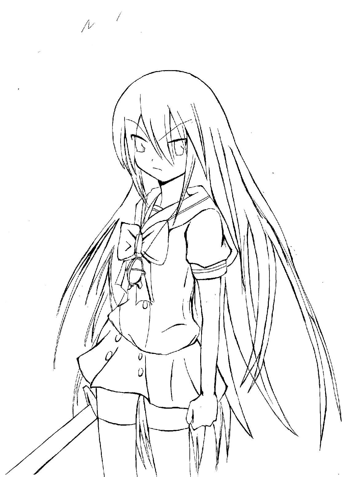 shakugan no shana ii coloring picture