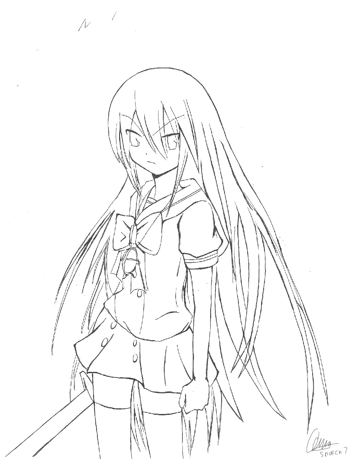 Shakugan No Shana II Coloring Picture 6