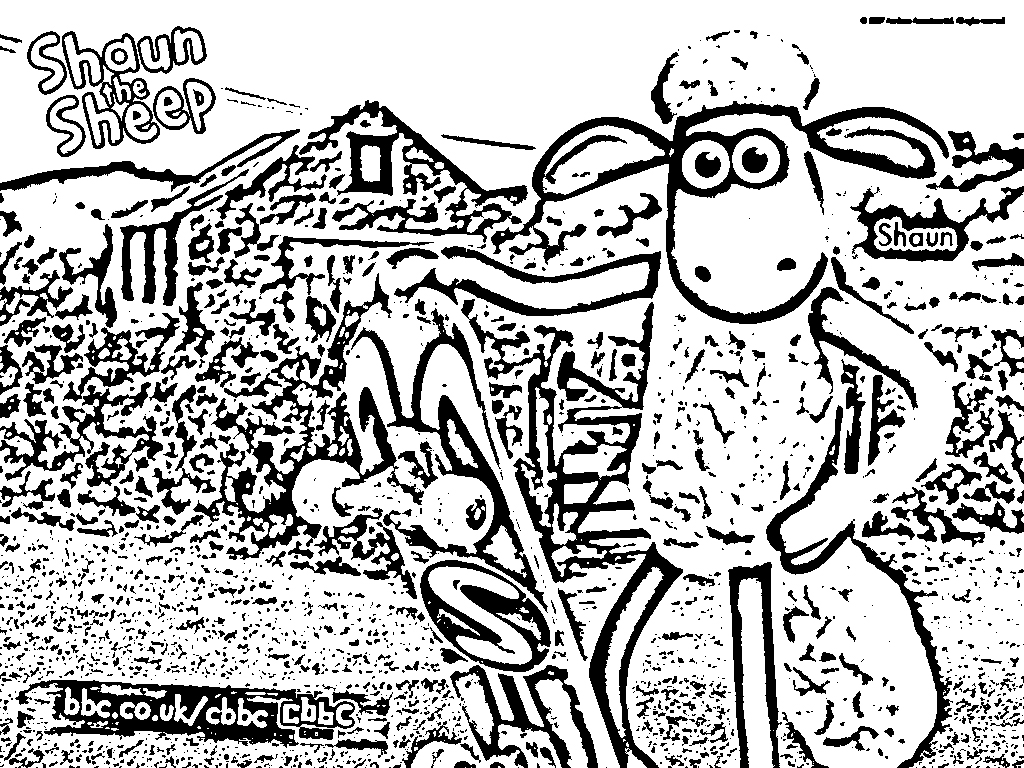 Shaun The Sheep Coloring Picture 5