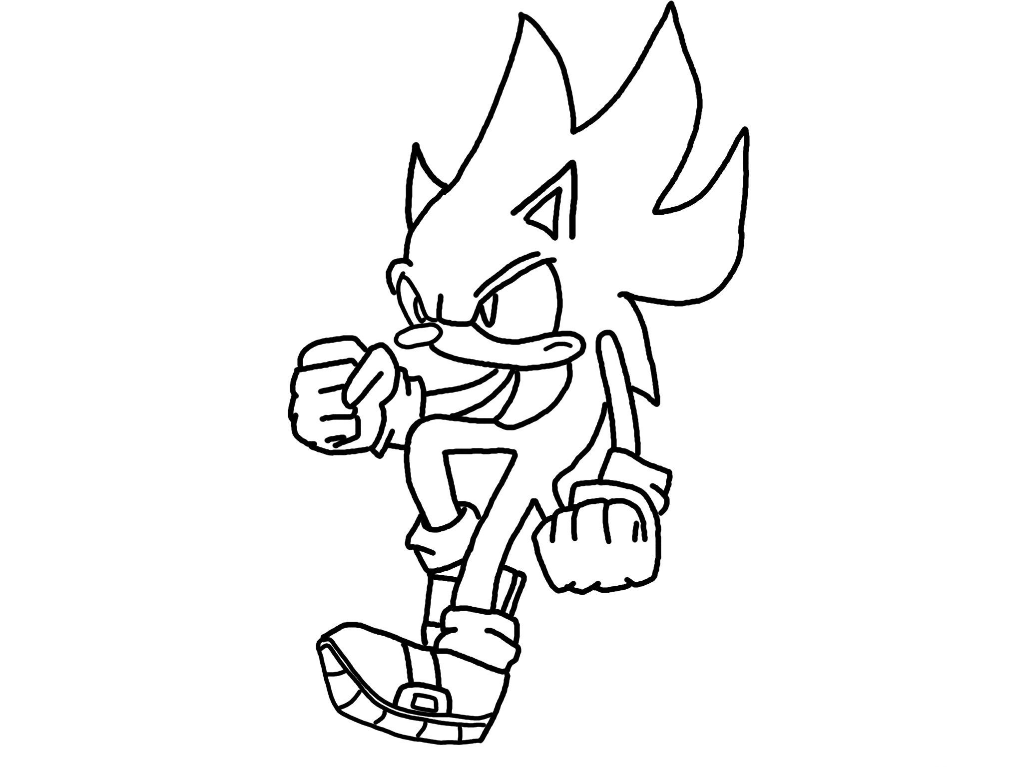 Sonic Coloring Picture 10