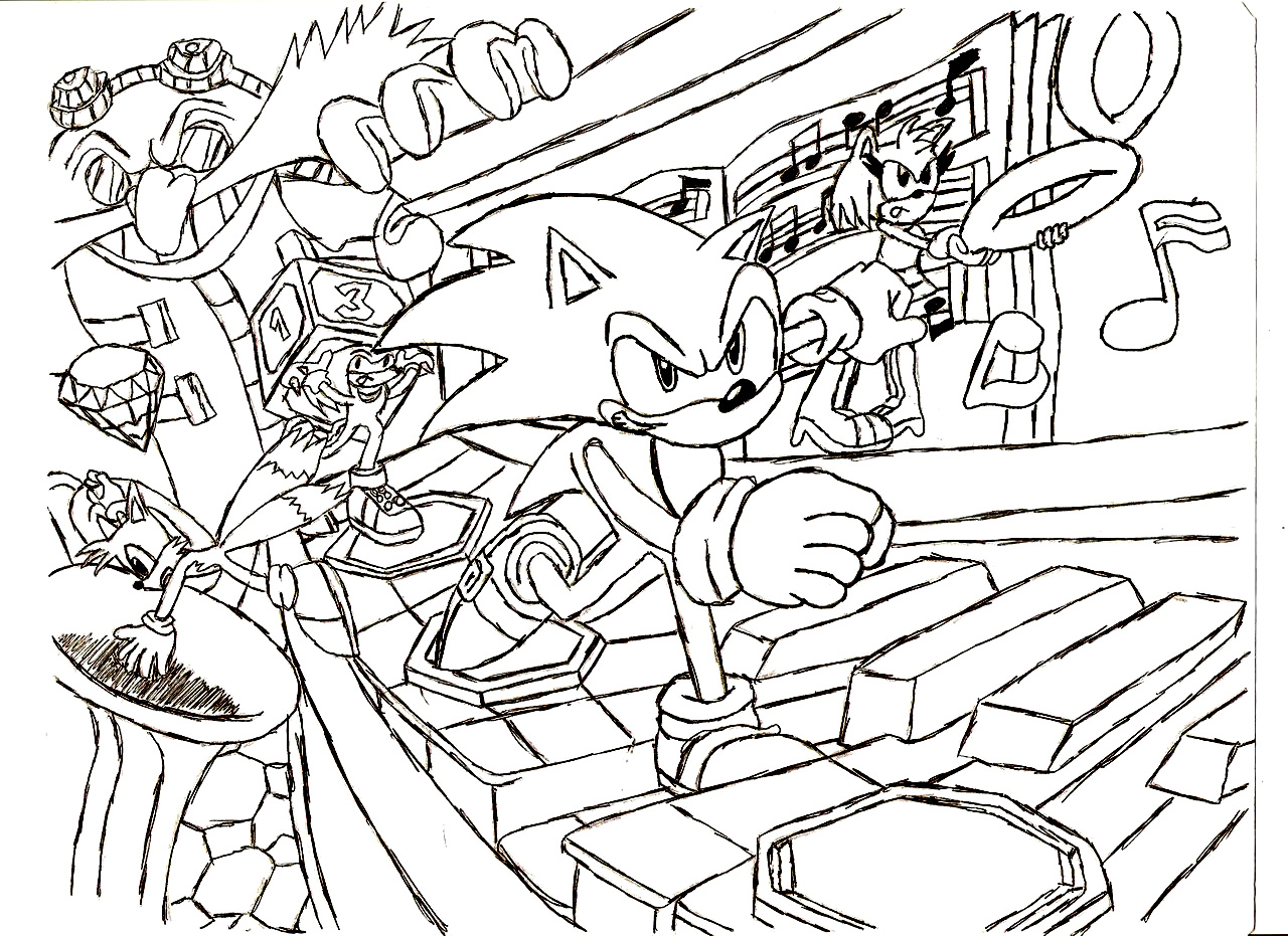 Sonic Coloring Picture 12