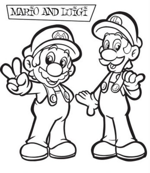 Super Mario Coloring Picture 1