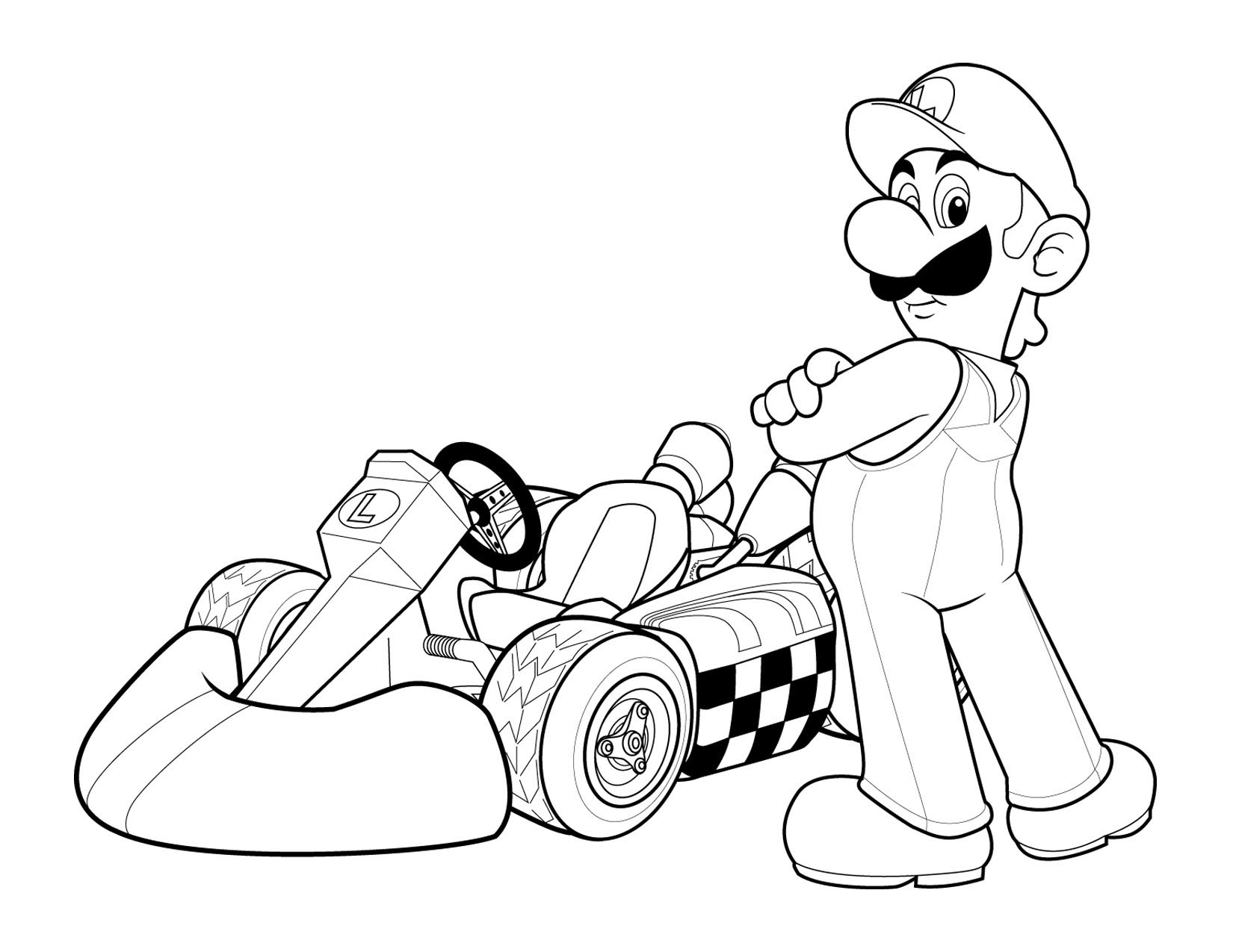 super mario coloring picture