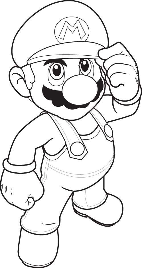 Super Mario Coloring Picture 3
