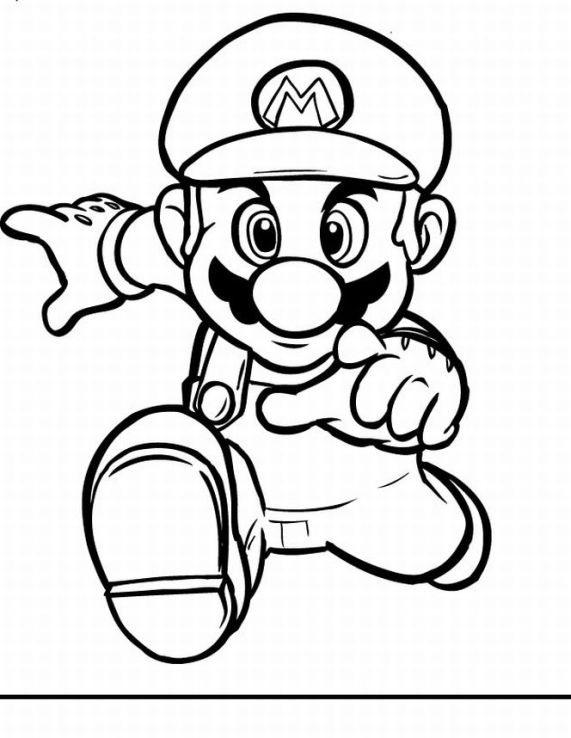 Super Mario Coloring Picture 5