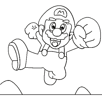 Super Mario Coloring Picture 7