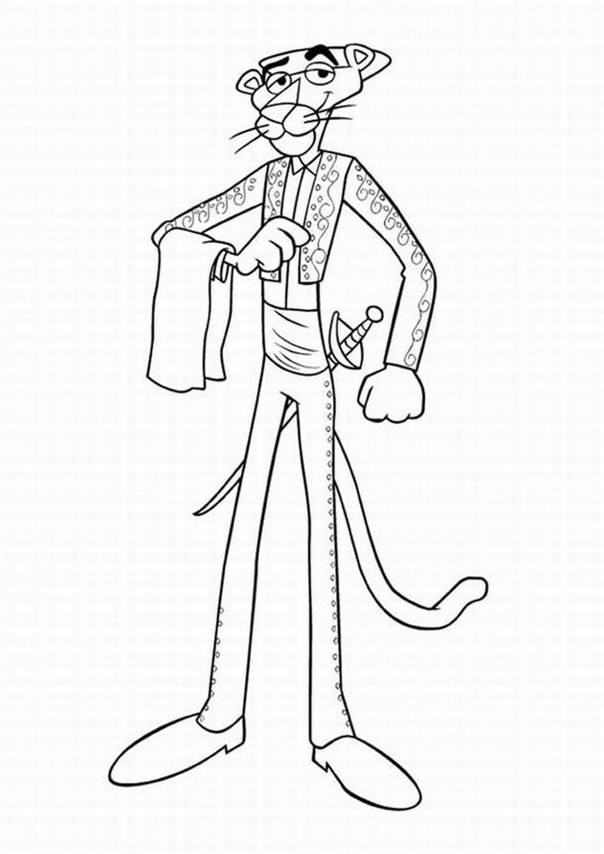 the pink panther show coloring picture