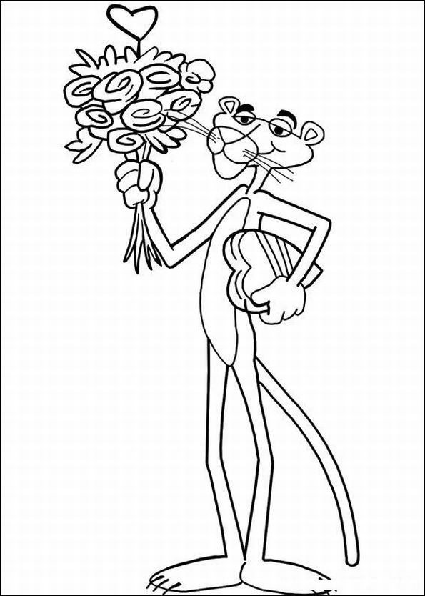 The Pink Panther Show Coloring Picture 4
