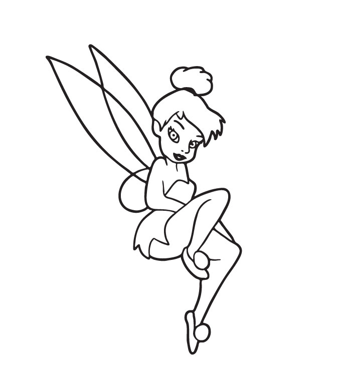 Tinkerbell Coloring Picture 10