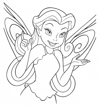 Tinkerbell Coloring Picture 2