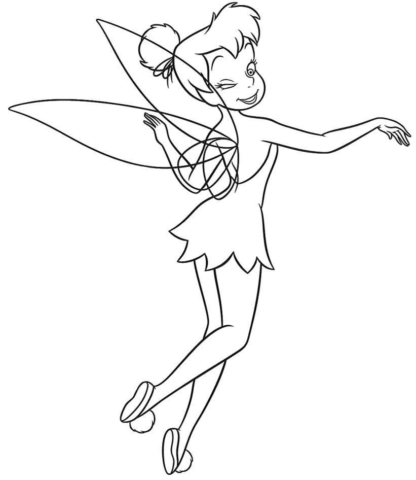 Tinkerbell Coloring Picture 5