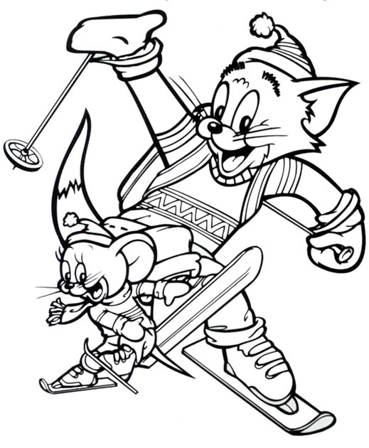 Tom and Jerry The Movie Coloring Picture 4