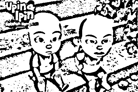 Upin Ipin Coloring Picture 2