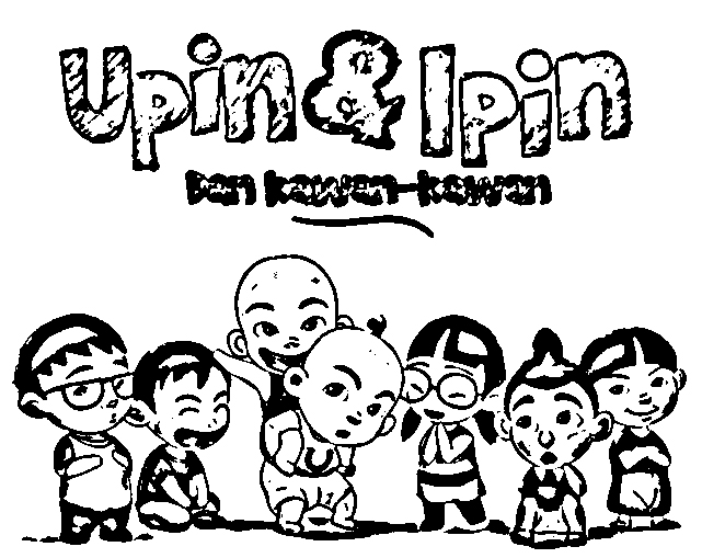 Upin Ipin Coloring Picture 3