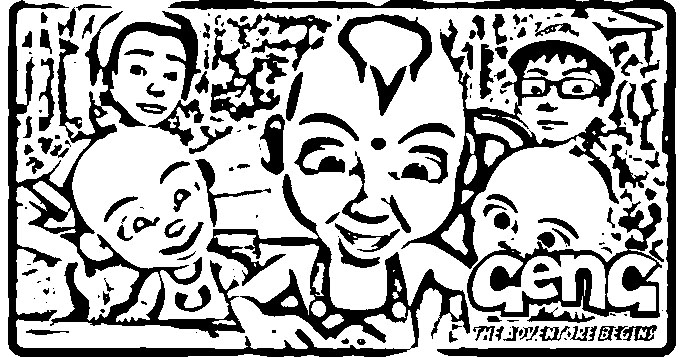 Upin Ipin Coloring Picture 4