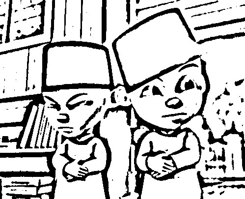 Upin Ipin Coloring Picture 6