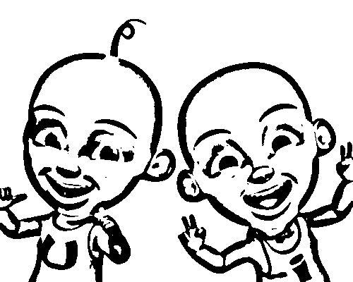 Upin Ipin Coloring Picture 9