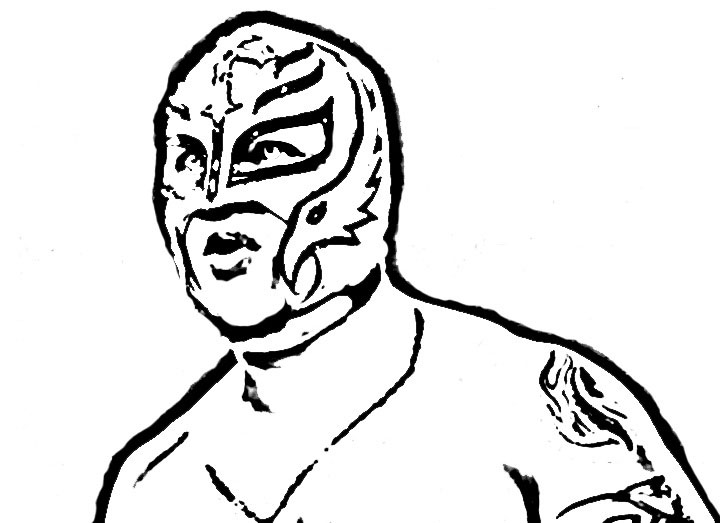 WWE Coloring Picture 1