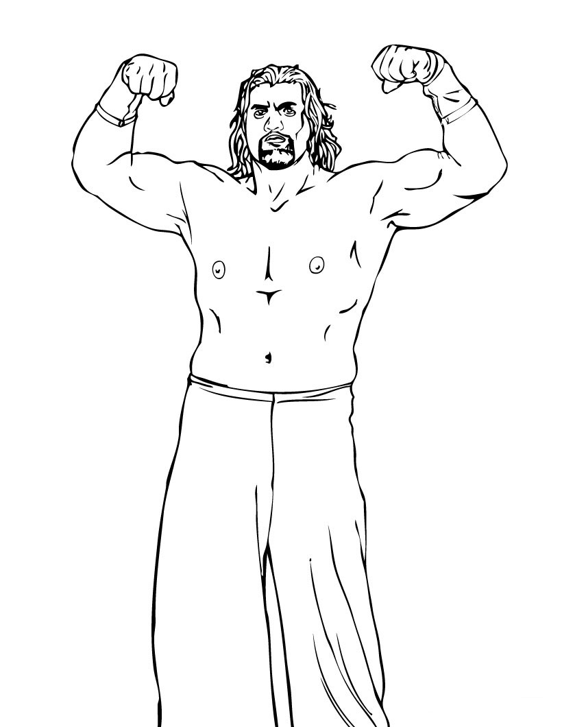 WWE Coloring Picture 11