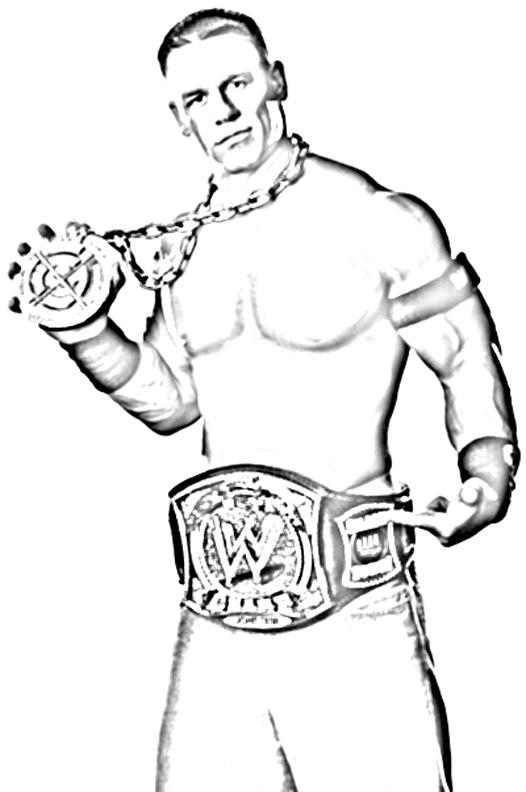 WWE Coloring Picture 2