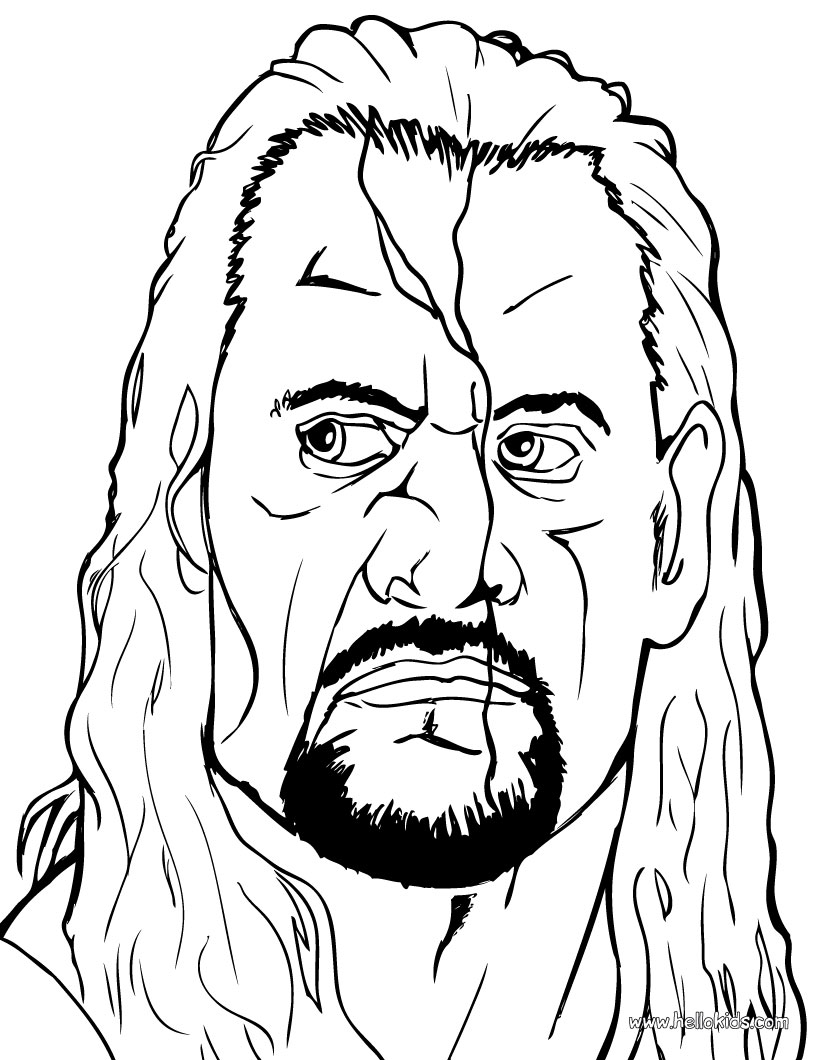 WWE Coloring Picture 7