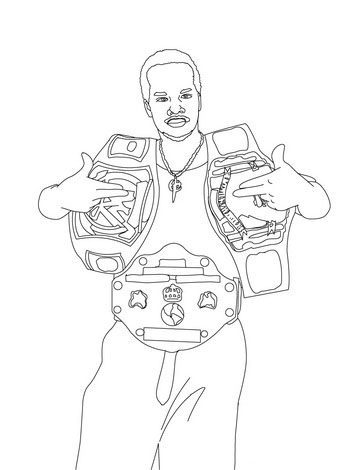 WWE Coloring Picture 9